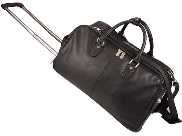 Adpel Memphis Nappa Leather Duffel Bag | Black - KaryKase