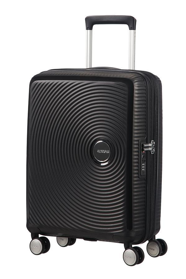 American Tourister Soundbox 55cm Cabin Spinner-Expandable | Bass Black - KaryKase