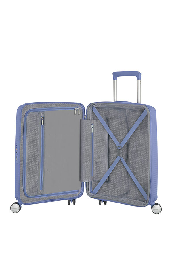 American Tourister Soundbox 55cm Cabin Spinner - Expandable | Denim Blue