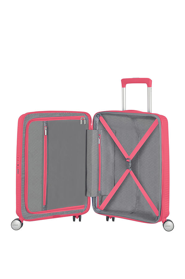 American Tourister Soundbox 55cm Cabin Spinner - Expandable | Hot Pink