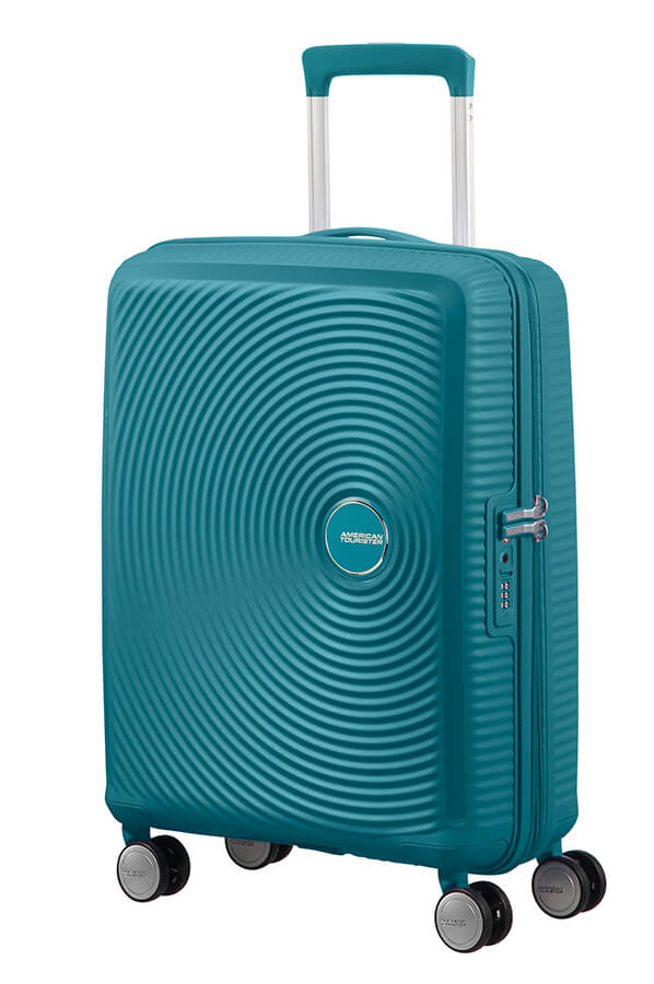 American Tourister Soundbox 55cm Cabin Spinner - Expandable | Jade Green - KaryKase