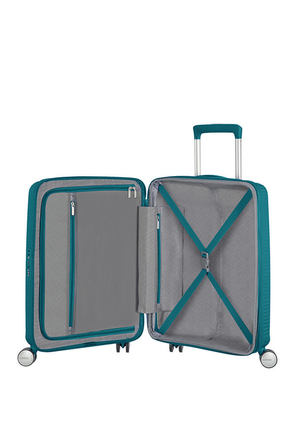 American Tourister Soundbox 55cm Cabin Spinner - Expandable | Jade Green