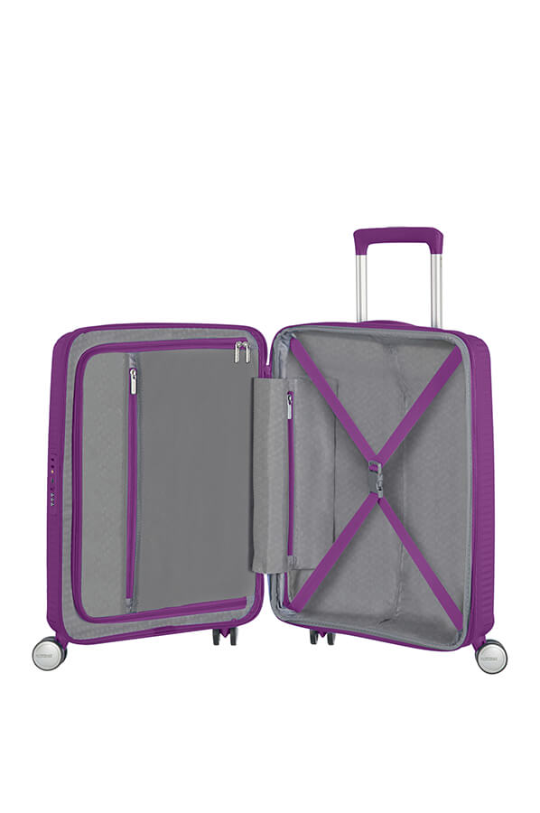 American Tourister Soundbox 55cm Cabin Spinner - Expandable | Purple Orchid