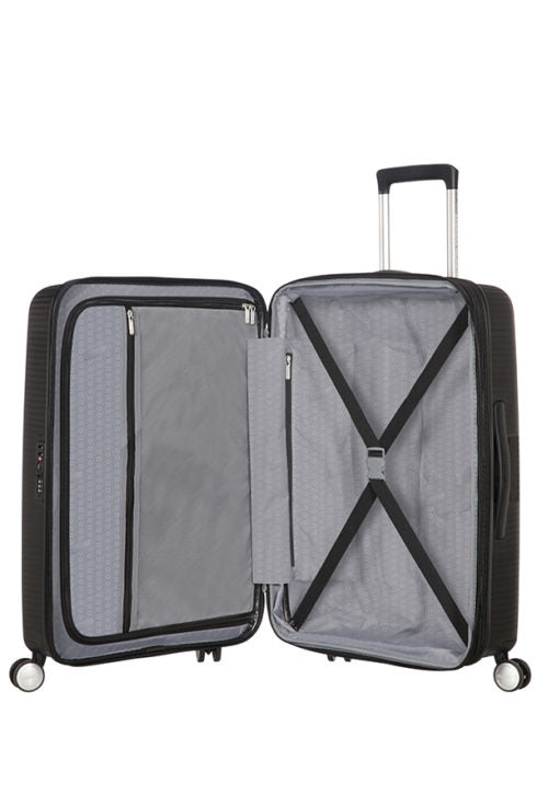 American Tourister Soundbox 67cm Medium Spinner-Expandable | Bass Black - KaryKase
