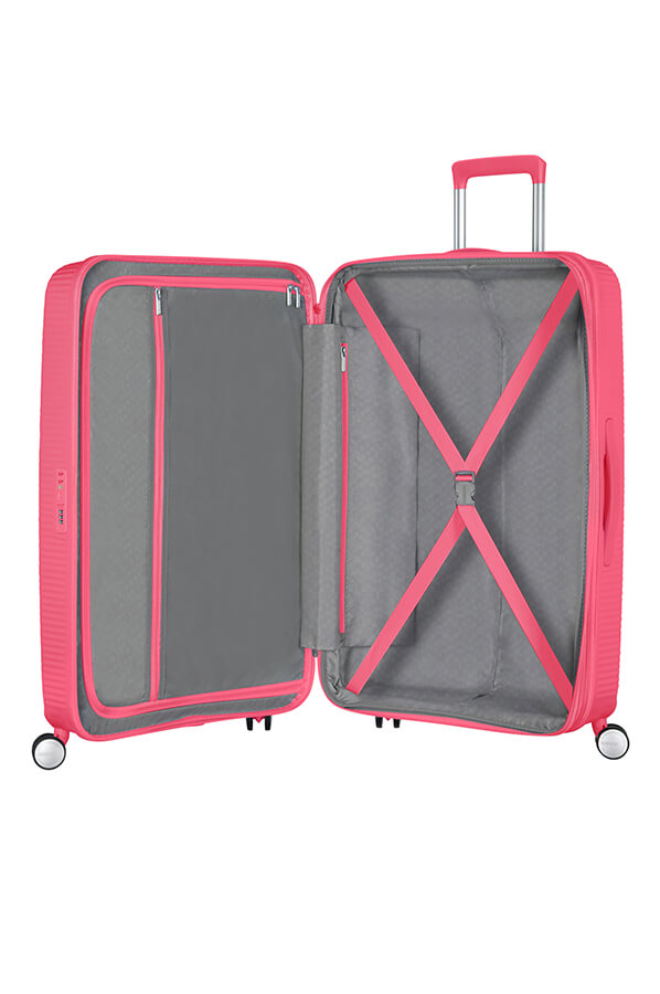 American Tourister Soundbox 67cm Medium Spinner-Expandable | Hot Pink