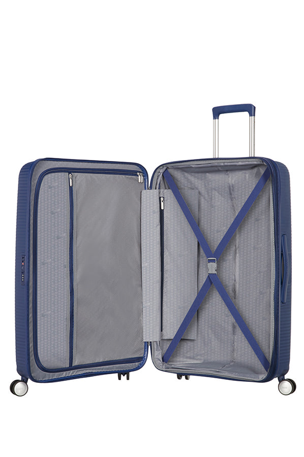 American Tourister Soundbox 67cm Medium Spinner-Expandable | Midnight Navy