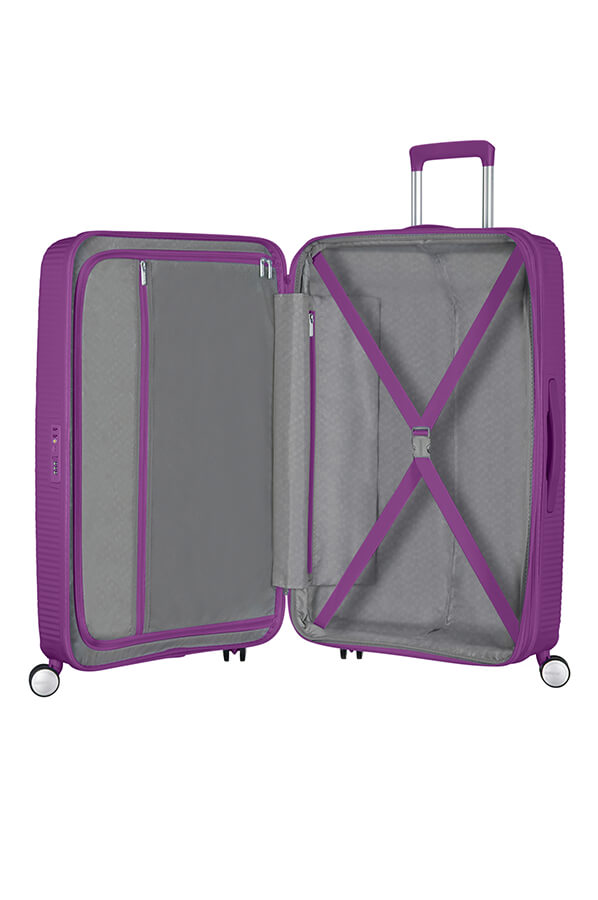 American Tourister Soundbox 67cm Medium Spinner-Expandable | Purple Orchid