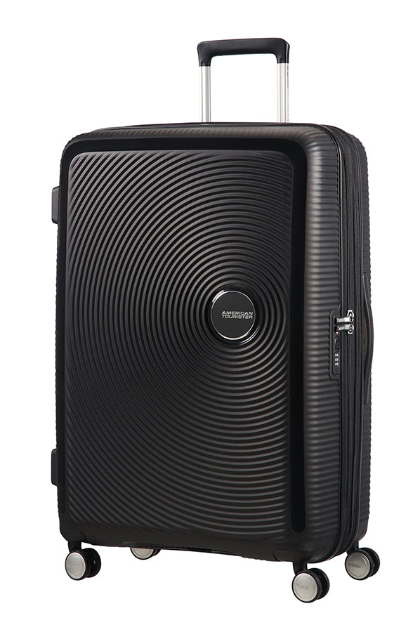 American Tourister Soundbox 77cm Large Spinner-Expandable | Bass Black - KaryKase