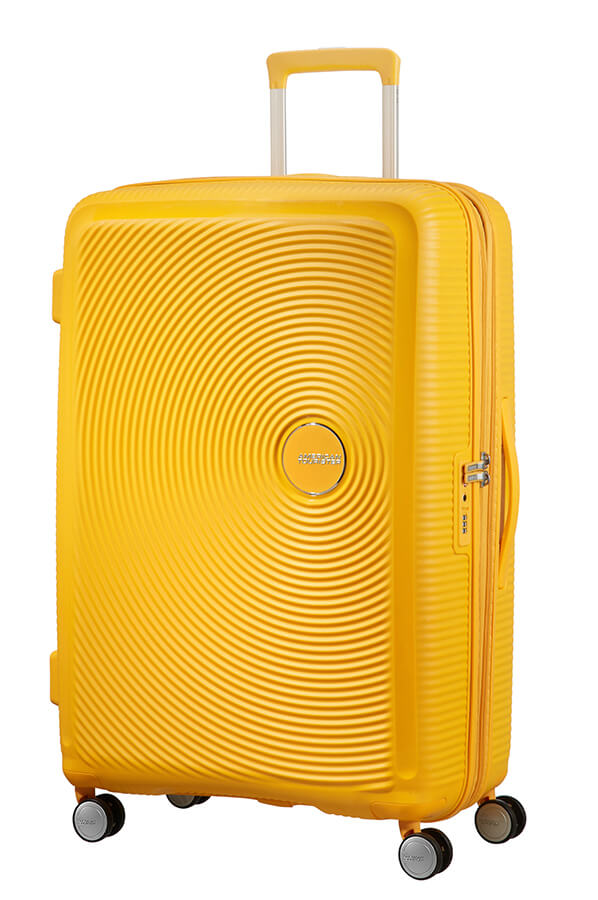 American Tourister Soundbox 77cm Large Spinner-Expandable | Golden/Yellow - KaryKase