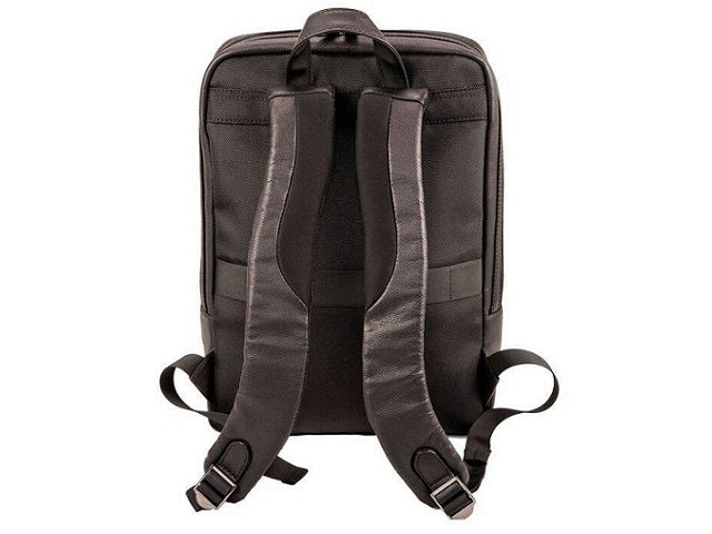 Adpel Torino Leather Laptop Backpack | Black - KaryKase