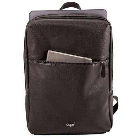 Adpel Torino Leather Laptop Backpack | Black