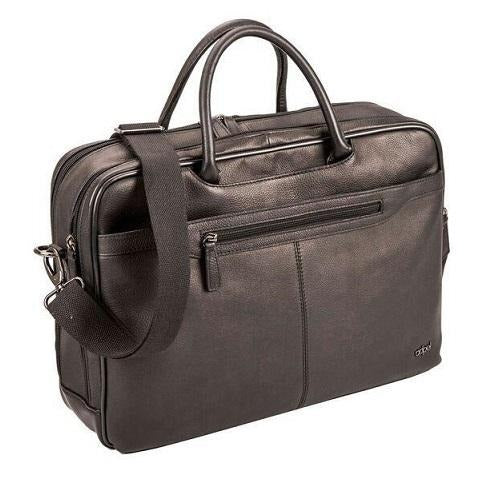 "Adpel Broadway 15.6"" Leather Laptop Bag 