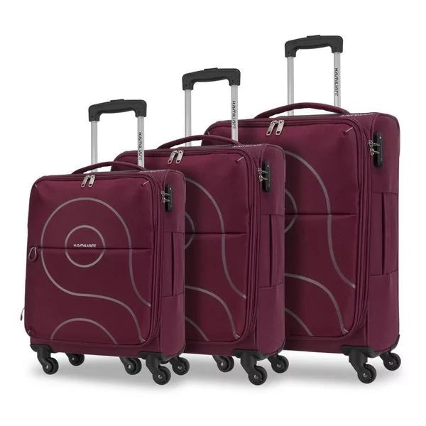 Kamiliant Cayman Luggage Set - Expandable | Maroon - KaryKase