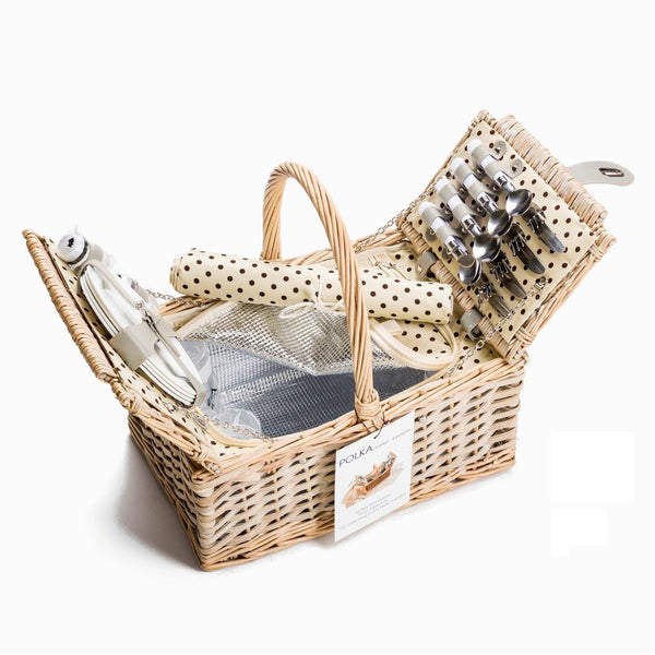 Yuppie Gift Baskets Polka Picnic Basket (4 Persons) - KaryKase
