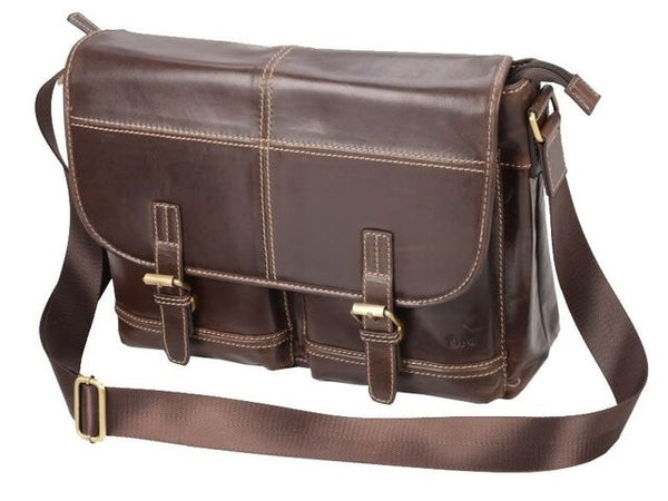 "Adpel Trendy 15.4"" Leather Messenger Bag 
