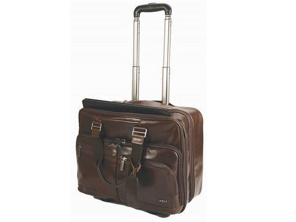 Adpel At Work Laptop Trolley Bag | Brown - KaryKase