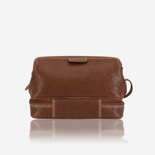 Brando Vintage Genuine Leather Wash Bag | Tan - KaryKase