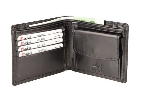 Adpel Dakota Leather Wallet | Black