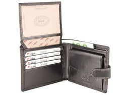 Adpel Dakota Leather Wallet With License Pocket | Black - KaryKase