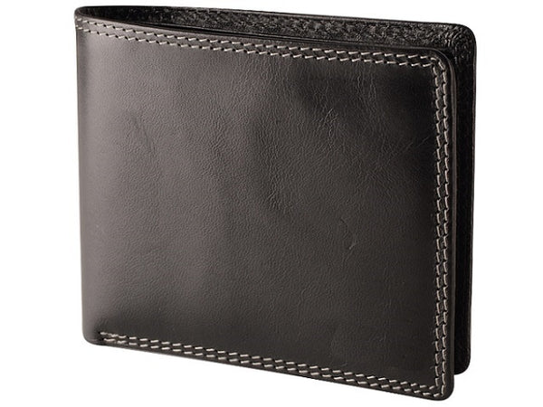Adpel Dakota Leather 8CC Wallet | Black - KaryKase
