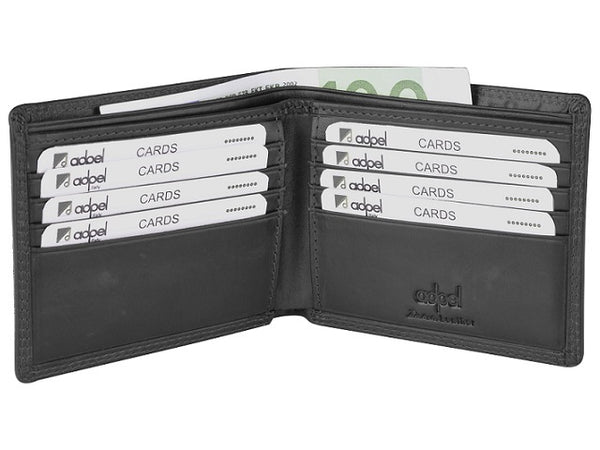 Adpel Dakota Leather 8CC Wallet | Black