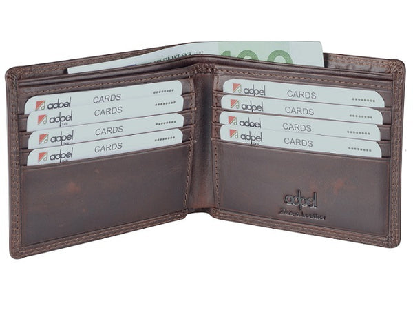 Adpel Dakota Leather 8CC Wallet | Brown - KaryKase