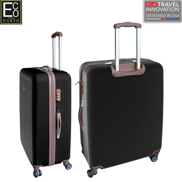 Eco Earth Monaco American Aviator 2 Pc ABS Luggage Set | Black
