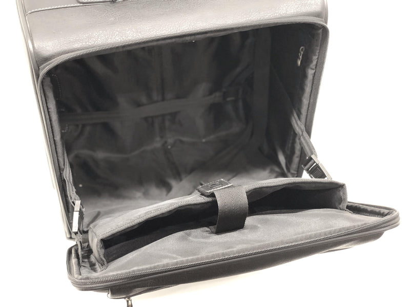 Adpel Leather Laptop Trolley Bag | Black - KaryKase