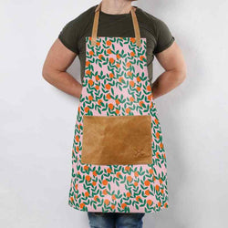 Thandana Laminated Fabric with Leather Pouch Apron | New Designs - KaryKase