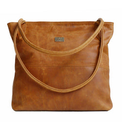 Tan Leather Goods - Ashley Leather Handbag | Toffee - KaryKase