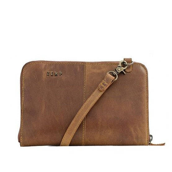 Zemp Ayo Ladies Slingbag And Purse Hybrid | Waxy Tan - KaryKase