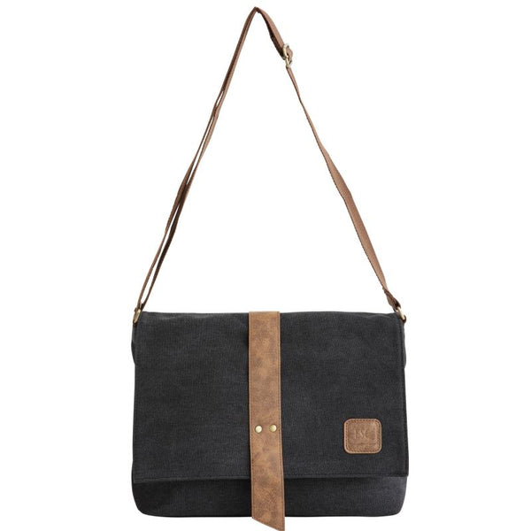 Escape Classic Canvas Messenger Bag | Black - KaryKase