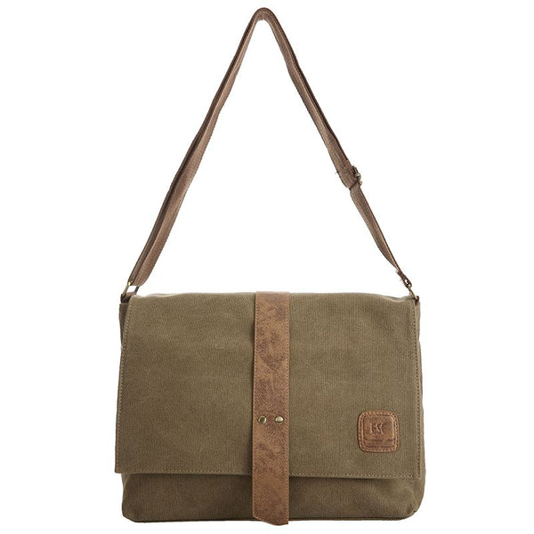 Escape Classic Canvas Messenger Bag | Light Brown - KaryKase