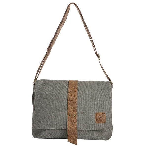 Escape Classic Canvas Messenger Bag | Light Grey - KaryKase