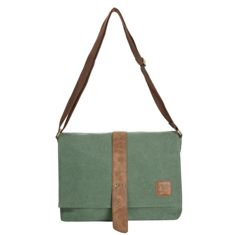 Escape Classic Canvas Messenger Bag | Military Green - KaryKase