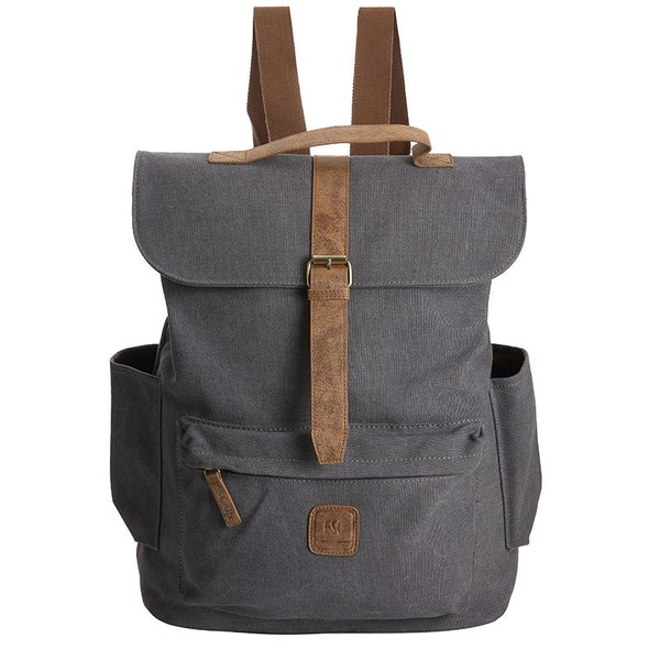 Escape Classic Canvas Large Backpack | Dark Grey - KaryKase