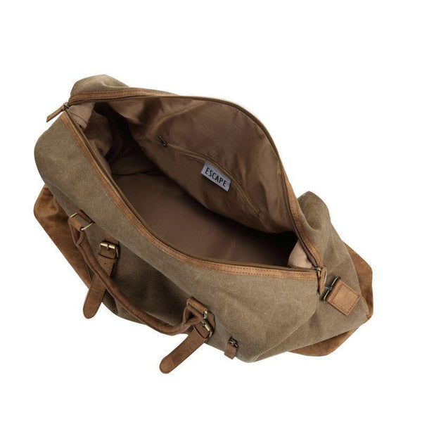 Escape Classic Canvas Large Travel Bag | Light Brown - KaryKase