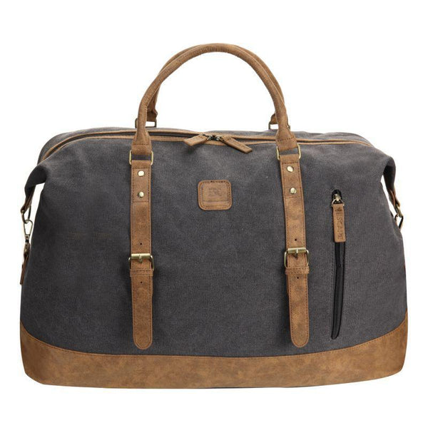 Escape Classic Canvas Large Travel Bag | Dark Grey - KaryKase