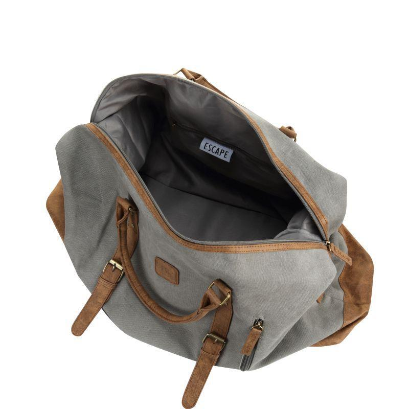 Escape Classic Canvas Large Travel Bag | Light Grey - KaryKase