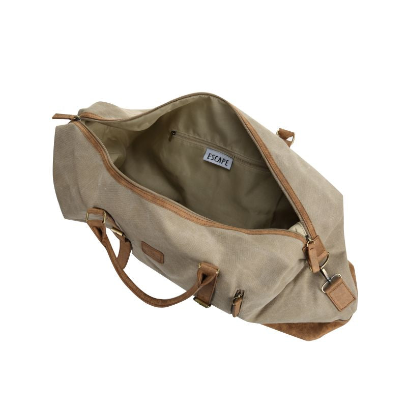 Escape Classic Canvas Large Travel Bag | Taupe - KaryKase