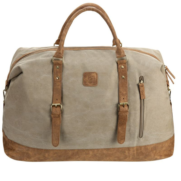 Escape Classic Canvas Large Travel Bag | Taupe