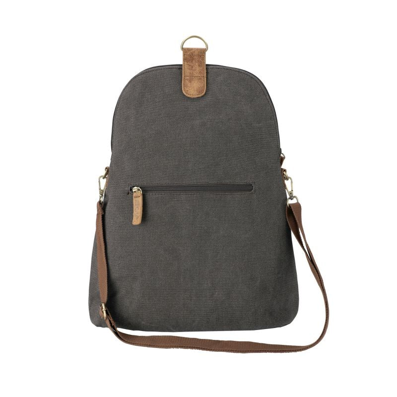 Escape Convertible Canvas Backpack - Crossbody Bag | Dark Grey - KaryKase
