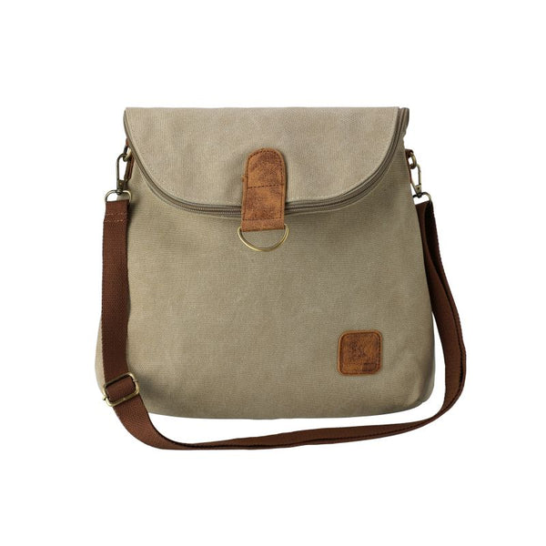 Escape Convertible Canvas Backpack - Crossbody Bag | Taupe - KaryKase