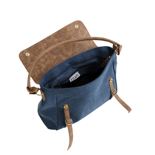 Escape Classic Canvas Slouch Bag | Dark Blue - KaryKase