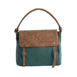 Escape Classic Canvas Slouch Bag | Teal - KaryKase