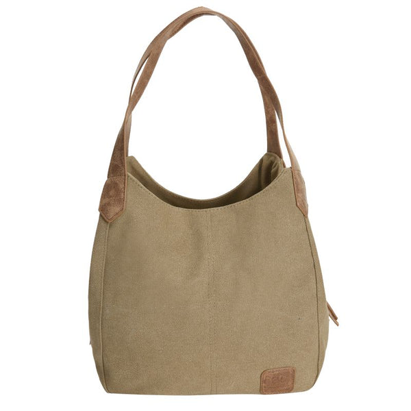 Escape Classic Canvas Shoulder Bag | Light Brown - KaryKase
