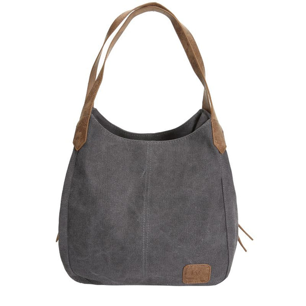 Escape Classic Canvas Shoulder Bag | Dark Grey - KaryKase