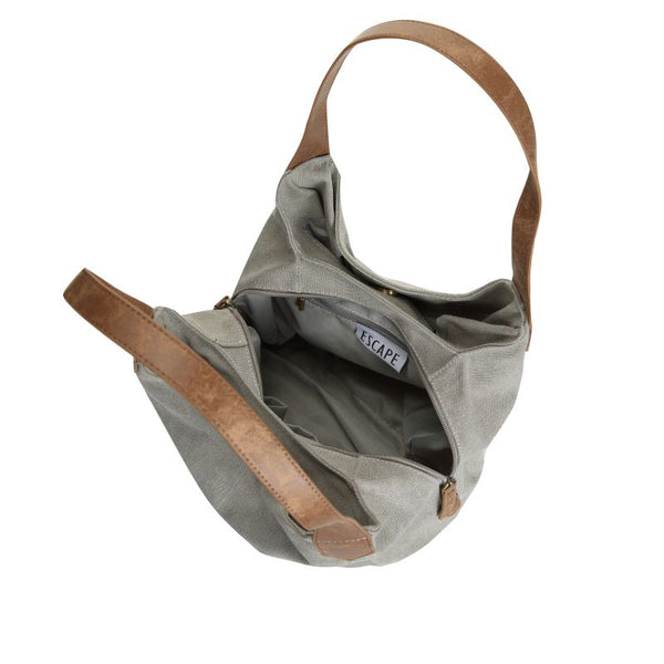 Escape Classic Canvas Shoulder Bag | Light Grey - KaryKase