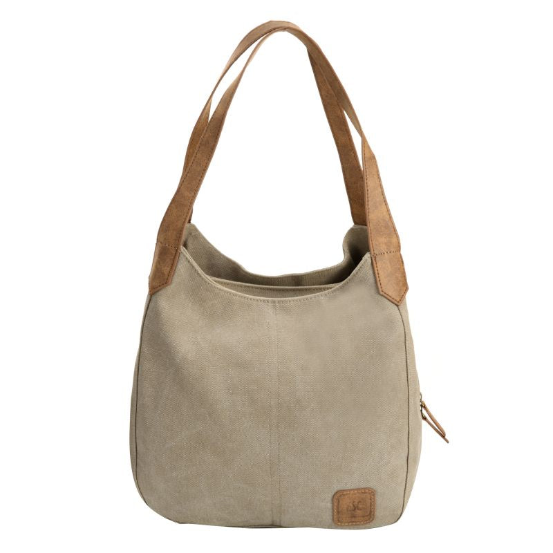 Escape Classic Canvas Shoulder Bag | Taupe - KaryKase