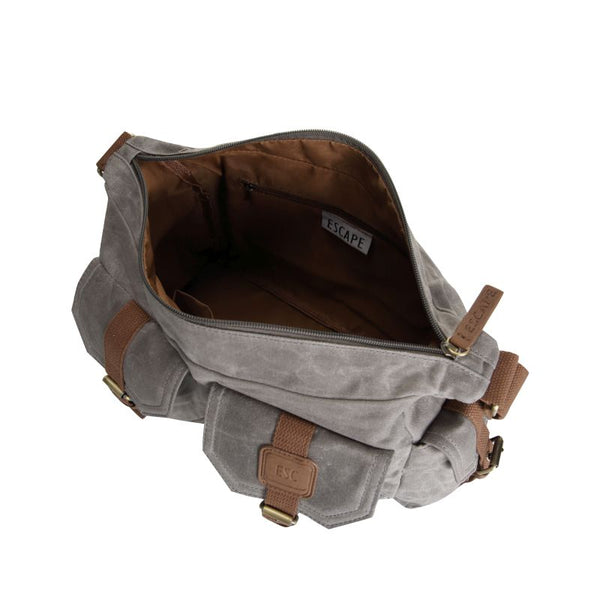 Escape Waxed Canvas Tactical Bag | Grey - KaryKase